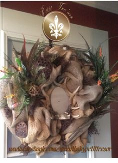 Unique Hunting Wreath  www.facebook.com/wreathsbypetittresor