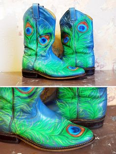 painted cowboy boots