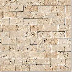 BuildDirect®: Kesir Mosaic Tile - Stacked Stone Brick Travertine
