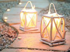 Záhradný lampáš z vŕbových konárov - návod slovensky