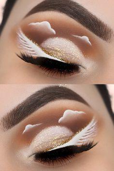 Disney Eye Makeup, Fancy Makeup, Makeup Eye Looks, Creative Makeup Looks, Colorful Eye Makeup, Eye Makeup Art, Crazy Makeup, Eyeshadow Makeup, Bee Makeup