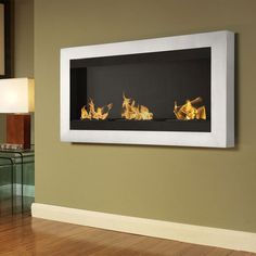 A clever alternative to a traditional fireplace.