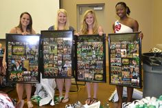 Senior gifts of posters with their best pictures throughout the year. Make a photo collage from snapfish, walmart. Softball Gifts, Cheerleading Gifts, Cheer Gifts, Team Gifts, Volleyball Players, Soccer Banquet, Cheer Banquet, Girls Basketball, Girls Softball