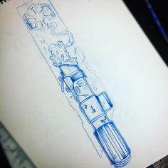 Just bought some really awesome star wars inspired art and was inspired to do darth Vaders saber :) #lightsaber #sith #starwars #vader #darthvader #thedarkside #empire #agalaxyfarfaraway #draw #drawing #sketch #illustration #tattoo #tattooartist #ink #coloradotattooartist #prisma #colorado #starwarstattoo #skywalker #kosherink #kosher #fun #theforce #tattooart