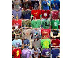 Las playeras de Sheldon Cooper
