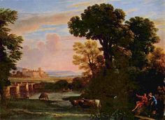 Claude Lorrain Paintings | Pastoral Landscape - Claude Lorrain