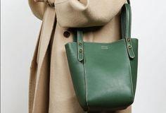 Genuine Leather Cute Bucket Bag Handbag Crossbody Bag Shoulder Bag Women Leather Purse