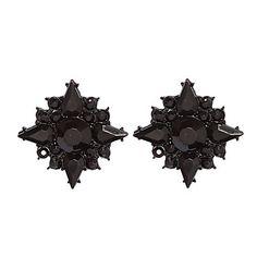 Black Square Stud Earrings – USD $ 4.99