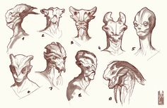 aliens head concept [wanja90] by ~Zarnala on deviantART