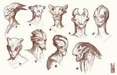 aliens head concept [wanja90] by ~Zarnala on deviantART