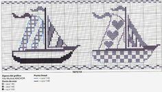 ♥Meus Gráficos De Ponto Cruz♥: Alfabeto dos Piratas e Barcos à Vela em Ponto Cruz