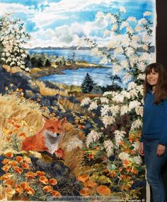 Anna and the Foxes and Amanda - The artist with the art.