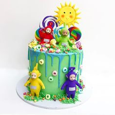 Today is my youngest sons 2nd birthday why must they grow so quickly!? He is teletubbies obsessed and taken this little cake to preschool…