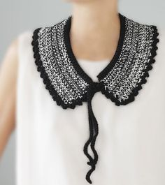 Crochet inspiration -  collar by Nathalie Costes