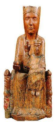 Mare de déu de Santa Maria de Matamala  (Tallers de Vic Últim quart del segle XII  Fusta d'alba amb restes de policromia)