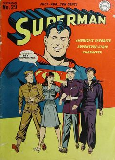 comicbookcovers:  Superman #29, July 1944