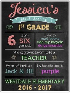 first day of school sign template - free editable photoshop template using free downloadable