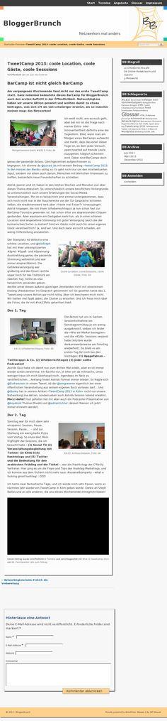"""TweetCamp 2013: coole Location, coole Gäste, coole Sesssions"" - @KretschmerB @Jasmin Jodlauk @AChristofori #tck13"
