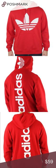 "Adidas Originals Trefoil Logo Hoodie Mens XL Rare Rare Trefoil Logo Hoodie by Adidas | 100% Authentic | New without tags | Exclusive design with big Trefoil chest logo | ""Adidas"" backline 