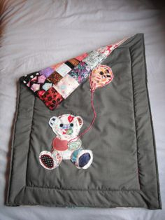 reversible patchwork baby blanket