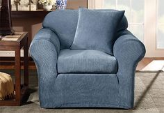 Sure Fit Slipcovers Stretch Stripe Separate Seat - Chair