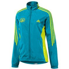 "adidas Boston Marathon 2010 Official Marathon Jacket - Women's ""Core Teal"" and ""Acid Buzz"""