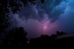 Night storm Shots of beautiful