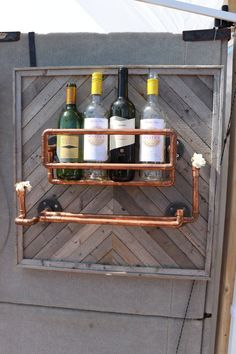Copper Wine Rack with Stemware Rustic Wine rack Industrial | Etsy Copper Wine Rack, Industrial Wine Racks, Rustic Wine Racks, Copper Pipes, Driftwood Coffee Table, Driftwood Furniture, Mobile Cocktail Bar, Two Tone Kitchen Cabinets, Bar Rack