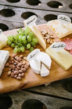Cheese board labels take the mystery out of your snack spread!