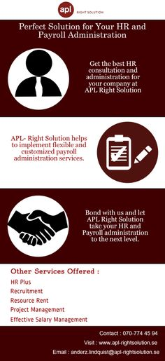 APL- Right Solution helps procure an effective HR plus system in Sweden along with other HR and payroll services.
