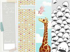 Marcadores de Livros para Imprimir grátis Vários modelos Book Markers, Kids Rugs, Paper, Books, Crafts, Diy, Internet, Samara, Binder