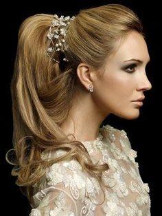 Peinados con coleta para boda 2015