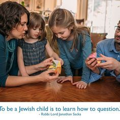 To be a Jewish child is to learn how to question. Jewish Crafts, Wonder Quotes, Wednesday Wisdom, Rabbi, Reading Quotes, Sacks, Lord, Parenting, Inspirational Quotes