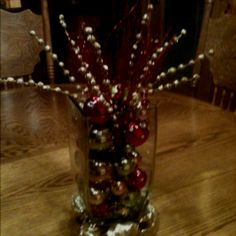 vase with christmas ornaments! so did this!