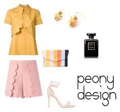 """Peony Design"" by teri-peony ❤ liked on Polyvore featuring MSGM, VIVETTA, Alexandre Birman, Hayward and Chanel"