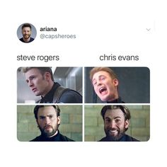 swipe (!!)follow @ladylaufeyscn for more posts like this! Marvel Actors, Marvel Heroes, Marvel Dc, The Avengers, Avengers Memes, Dc Movies, Marvel Movies, Funny Marvel Memes, Chris Evans Captain America