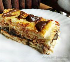 Sernik z czekoladową masą kajmakową Lasagna, Ethnic Recipes, Food, Essen, Meals, Yemek, Lasagne, Eten