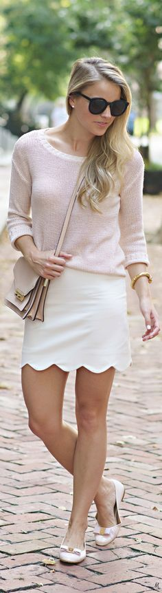 Street Style/ Coral sweater/ women fashion outfit clothing stylish apparel @roressclothes closet ideas