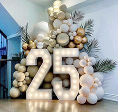 Birthday Goals, 18th Birthday Party, Birthday Celebration, Birthday Balloon Decorations, Birthday Balloons, Birthday Party Decorations, Deco Ballon, Balloon Garland, Party Time