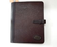 Fossil Estate Dark Brown Leather Tablet Case Originally $98 NWT #Fossil #Tabletcase