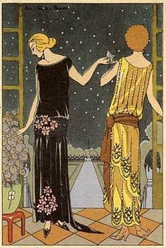 1920's fashion illustration. Don't you just want to live in it?