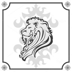 Heraldic Lion Head by ART69M on Creative Market