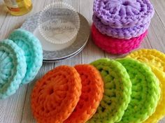 These are the BEST cleaning scrubbies! I compare them to a copper scourer but non-abrasive and safe to use on most surfaces.They are nylon making them m