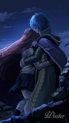 Fairy Tail - Jellal x Erza Fairy Tail Nalu, Fairy Tail Ships, Fairy Tail Love, Erza Y Jellal, Jerza, Fairytail, Fairy Tail Family, Fairy Tail Couples, Erza Scarlet