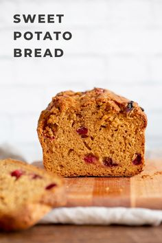 Vegan Sweet Potato Bread with Cranberries or other berries. Easy 1 Bowl Sweet Potato Cranberry Loaf with winter spices. Use pumpkin for variation. Nutfree Soyfree Recipe