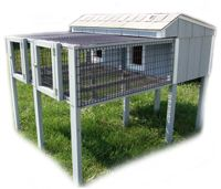 Epic rabbit hutch... the one I designed for our rabbit just doesn't compare.