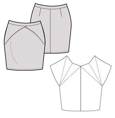 scatter the traveling darts on your basic sewing pattern skirt