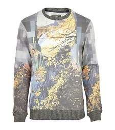 Grey Holloway Road pixel print sweatshirt £38.00