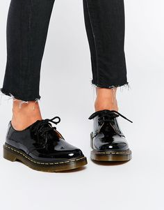 Image 1 of Dr Martens 1461 Classic Black Patent Flat Shoes