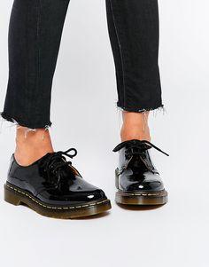 Dr Martens 1461 Classic Black Patent Flat Shoes